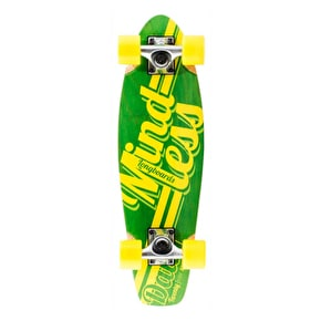 Mindless Daily Stain 24/7 Longboard - Green/Yellow
